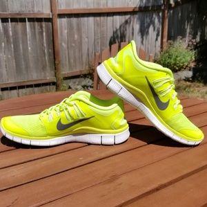Women's Nike Neon Sneakers Shoes Size 9.5
